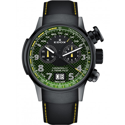 Edox 38001-TINGN-V3 Chronorally X-treme Pilot Limited Edition 48mm 10ATM